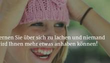 Lernen Sie über sich zu lachen!